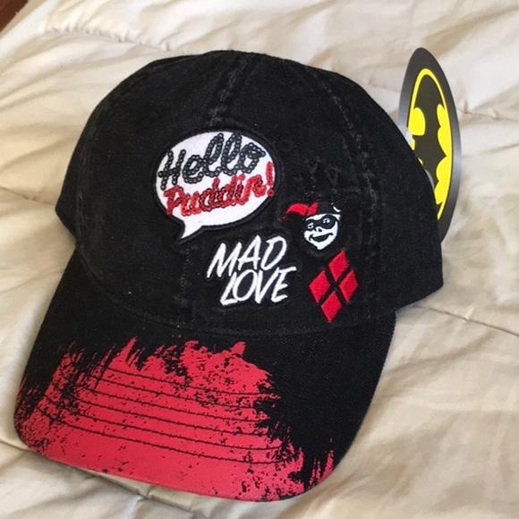 25e3d645d3cea Harley quinn Batman jean dad hat mad love cap new